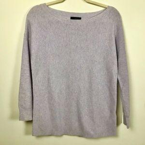 J. Crew Medium Light Lavender Boatneck Sweater